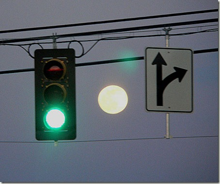 Stop Light Full Moon