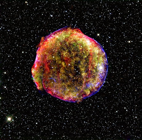 Visible-light Image of Tycho Supernova.